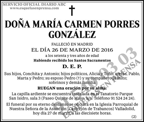 María Carmen Porres González